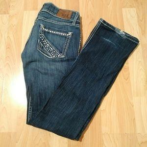 """BKE """"Stella"""" Bling Boot-Cut Jeans"""